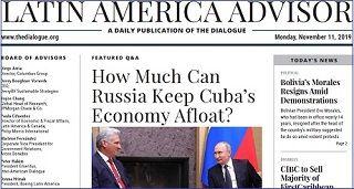 How Much Can Russia Keep Cuba's Economy Afloat? Comentario sobre las relaciones de Cuba-Rusia