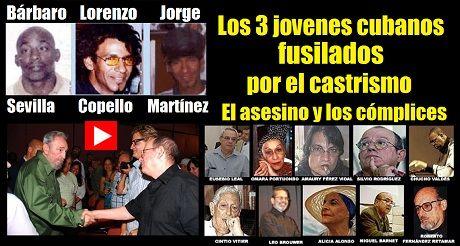 Jovenes cubanos fusilados por Castro y los complices