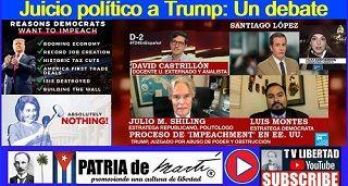 Juicio político a Trump: Un debate