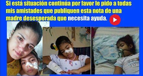 Madre cubana pide ayuda médica para su hija