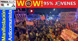 Manifestación en Miami convocada por Otaola. WOW! 95% eran jovenes