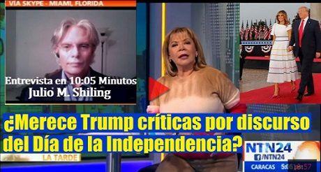 Merece Trump Criticas Por Discurso Del Dia De La Independencia