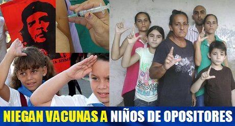 Niegan vacunas a hijos de opositores
