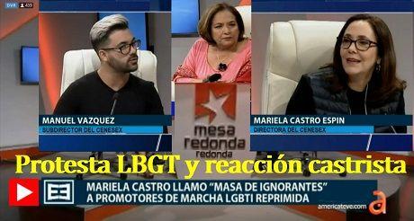 Protesta LBGT Reaccion Castrista