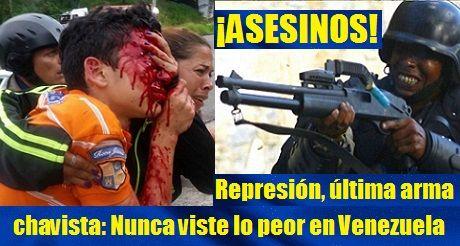 Represión, última arma chavista: Nunca viste lo peor en Venezuela