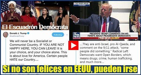 Trump Si No Son Felices En EEUU Pueden Irse