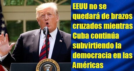 Trump A Cuba Por El Dia De Independencia