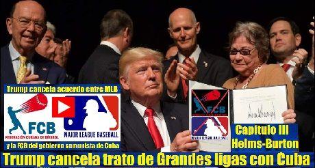 Trump cancela trato de Grandes ligas con Cuba