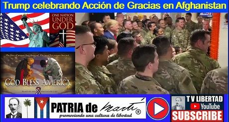 Trump celebrando Acción de Gracias en Afghanistan