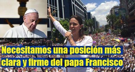 Venezuela necesita una posición más clara y firme del papa Francisco