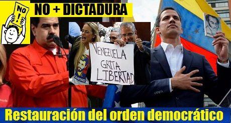 Venezuela restauracion del orden democratico