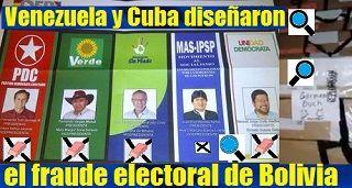 Venezuela y Cuba diseñaron el fraude electoral de Bolivia