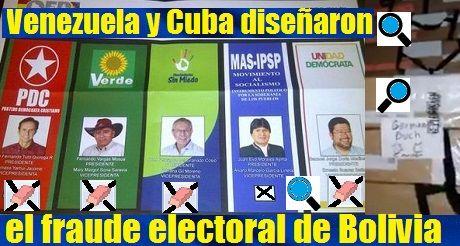 Venezuela Y Cuba Disenaron Fraude Electoral De Bolivia