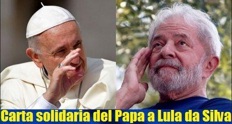 carta solidaria del Papa a Lula da Silva