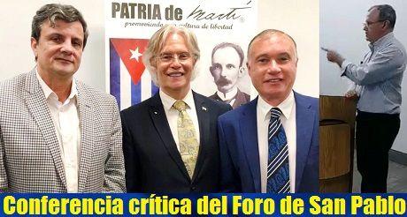 conferencia critica del Foro de Sao Paulo