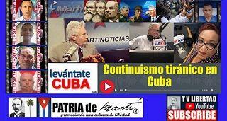Continuismo tiránico en Cuba