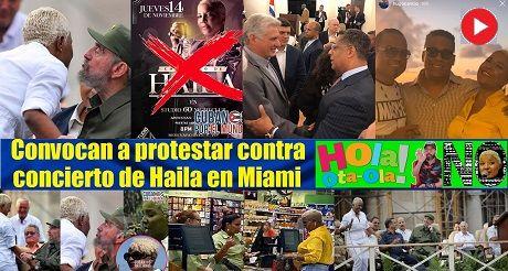 Convocan a protestar contra concierto de Haila en Miami