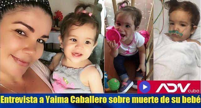 entrevista a madre de bebe fallecida por vacuna en Cuba