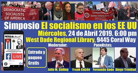 invitacion al Simposio El socialismo en los EEUU