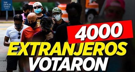 4000 extranjeros votaron en elecciones EEUU