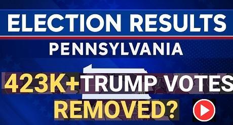 432000 votos por Trump fueron eliminados en Pensilvania video