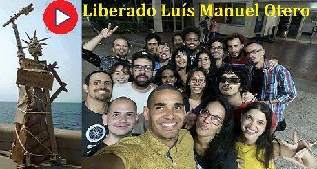 Activistas y artistas festejan la Libertad de Luis M Otero Alcantara video