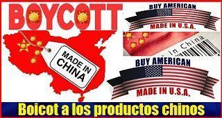Boicot a los productos chinos