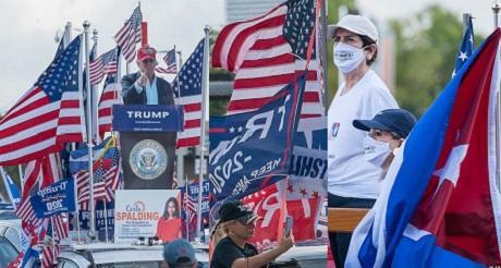 Caravana Anticomunista de apoyo a Trump en Miami