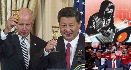 China comunista contra Trump a favor de Biden