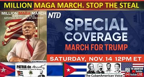 Cobertura especial MILLION MAGA MARCH STOP THE STEAL