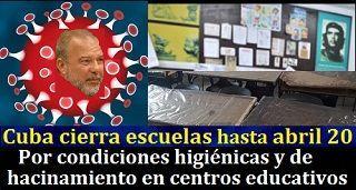 Cuba cierrá escuelas por incremento de contagios del Coronavirus