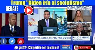 """Debate: Trump """"Biden iría al socialismo"""""""