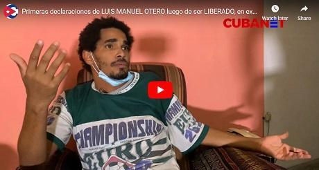 Declaraciones de Luis Manuel Otero despues de ser liberado