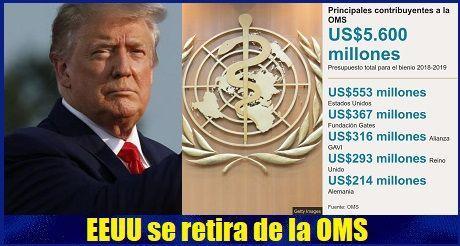 EEUU se retira de la OMS