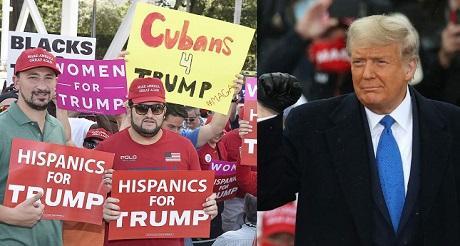 Encuestas Trump avanza con hispanos y negros