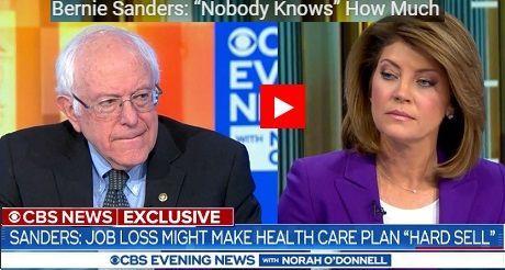 Entrevista de Sanders en CBS News
