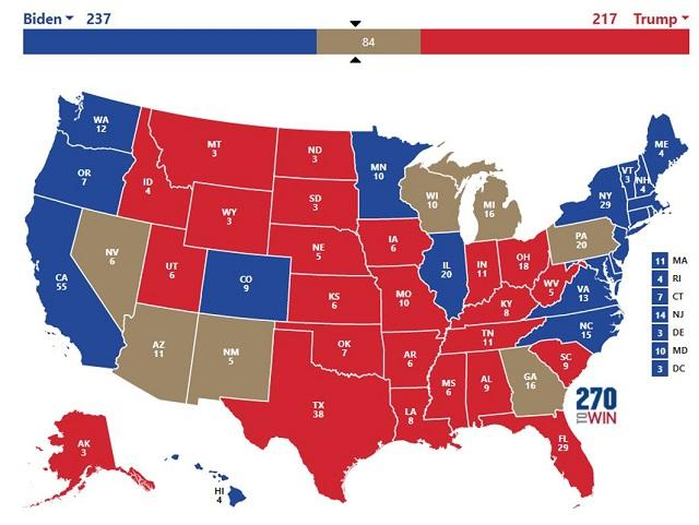 Estados confirmados para Trump