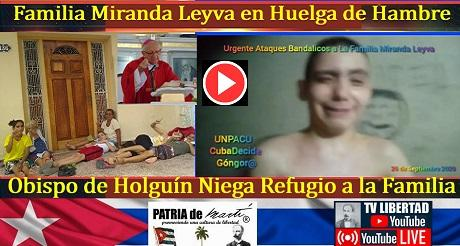 Pretenden encarcelar a toda la Familia Miranda Leyva incluidos los hijos menores