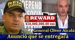 General Cliver Alcalá anunció que se entregará