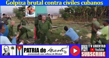 Golpiza brutal contra civiles cubanos