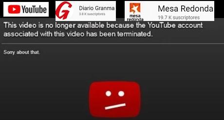 Google suspende cuentas castristas en YouTube