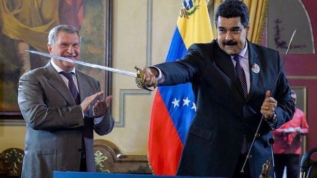 Igor Sechin maximo responsable de Rosneft junto a Maduro