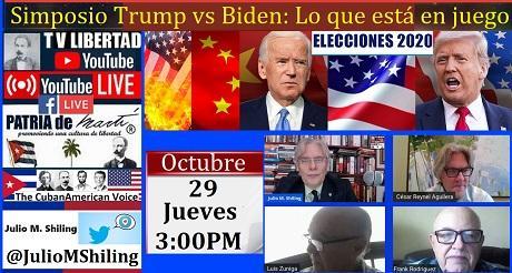 Invitacion Simposio Trump vs Biden Lo que está en juego