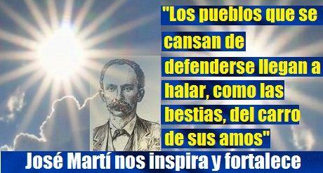 José Martí nos inspira y fortalece