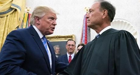 Juez Alito y Trump
