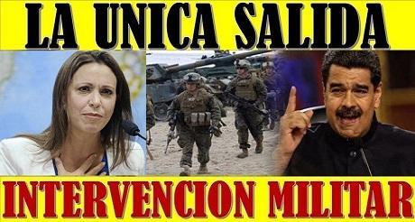 M C Machado intervencion militar unica salida en Venezuela