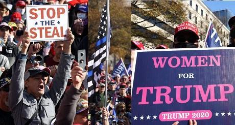 Marcha de apoyo a Trump en DC