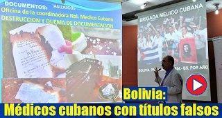 Médicos cubanos en Bolivia con títulos falsos