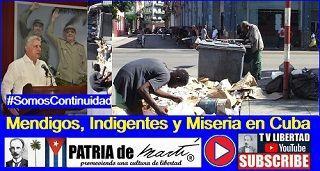 Mendigos, Indigentes y Miseria en Cuba