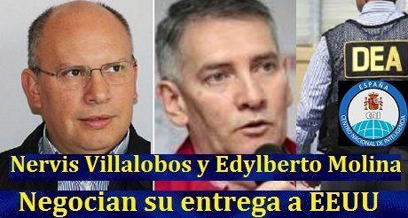 Nervis Villalobos y Edylberto Molina negocian su entrega a EEUU